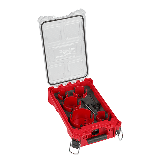 9 PC BIG HAWG™ with Carbide Teeth Hole Saw Kit w/ PACKOUT™ Compact Organizer